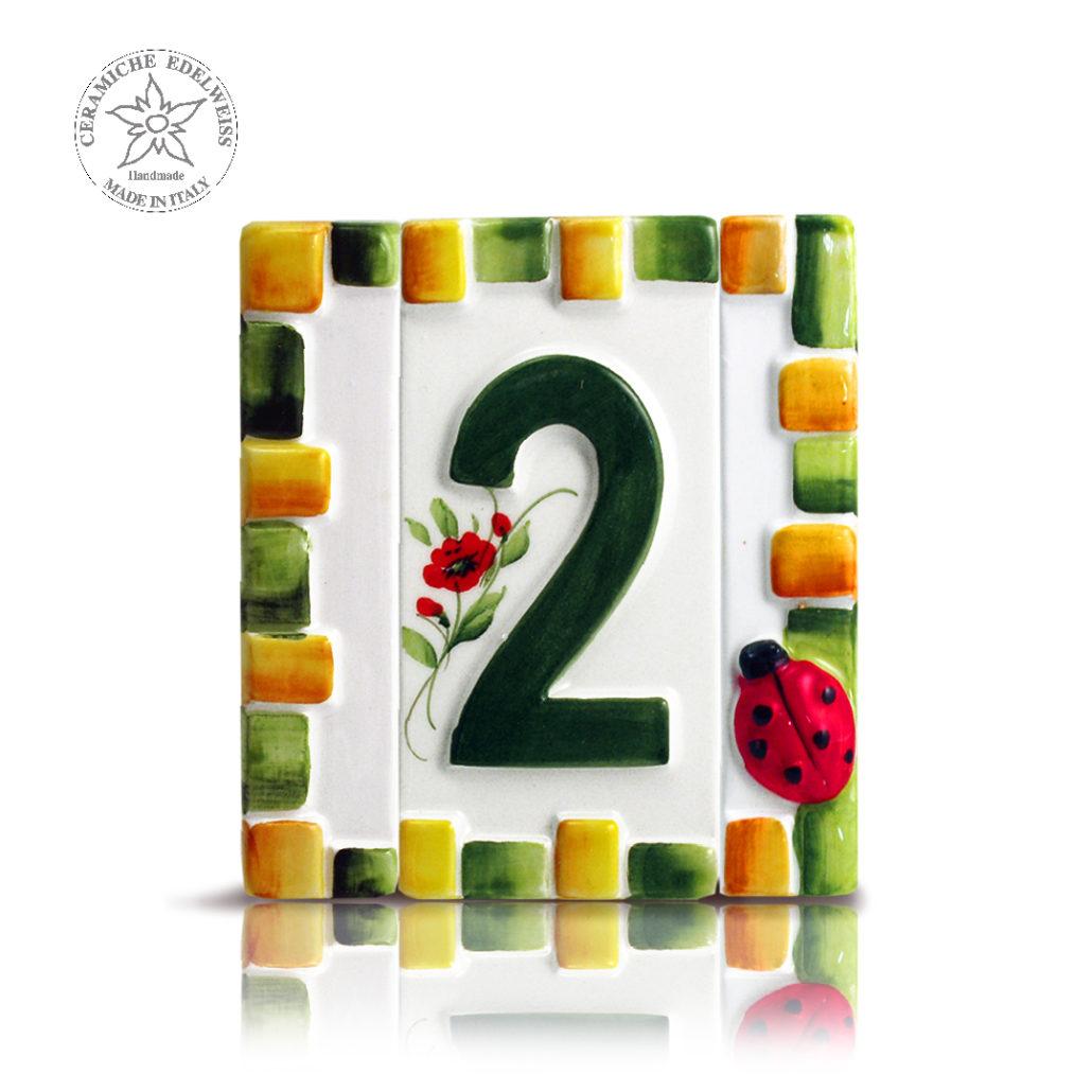 Numeri Civici In Ceramica.Numeri Civici Ceramica Personalizzati Ceramiche Edelweiss
