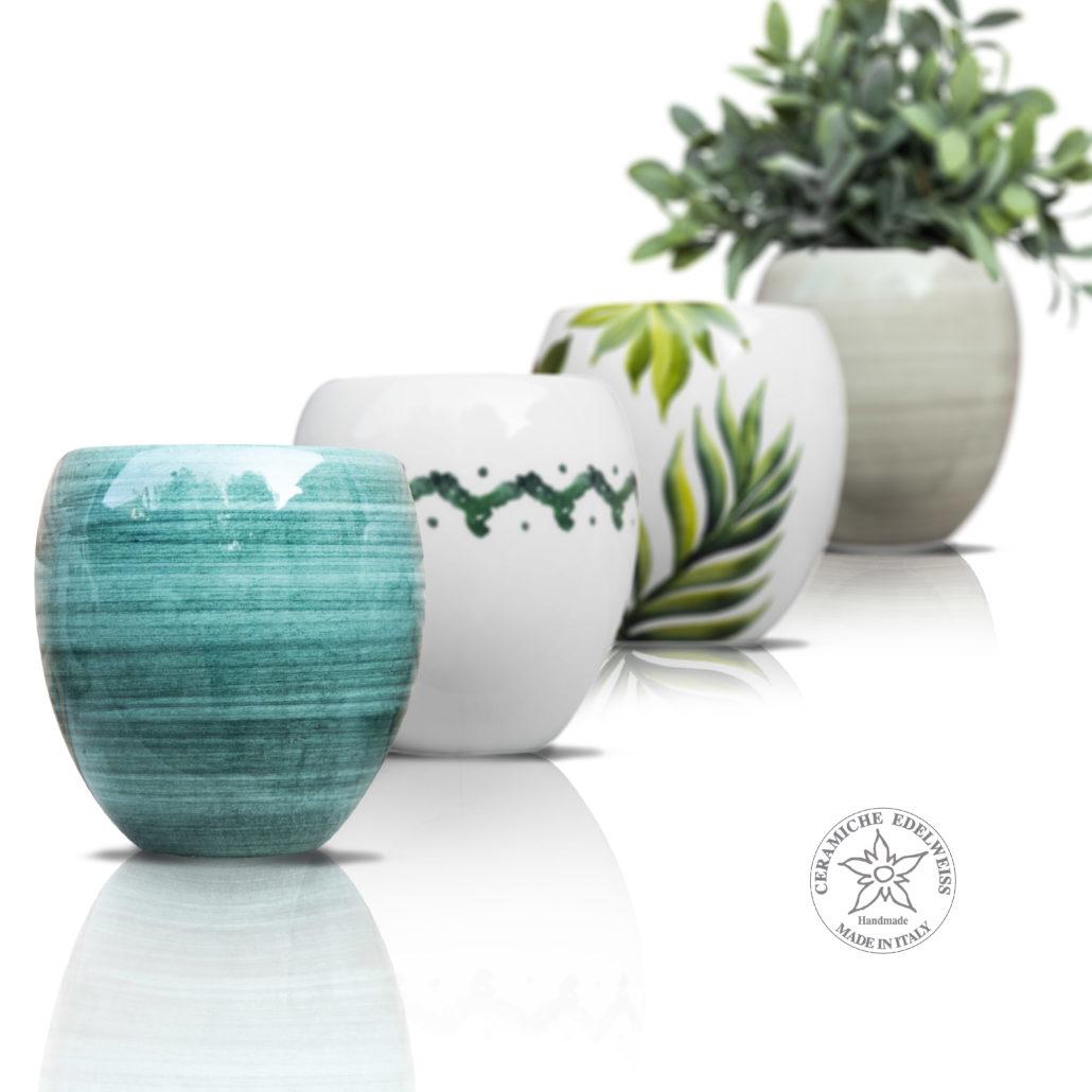 Vasi Interno Grandi Dimensioni vasi ceramica coprivasi ceramica - ceramiche edelweiss