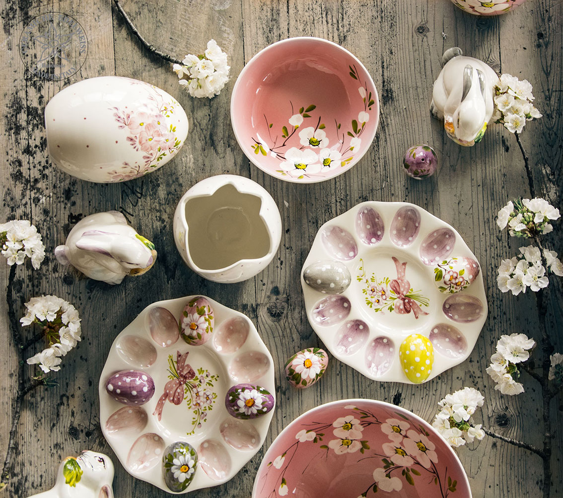 Uova Di Ceramica Dipinte A Mano.Uova Pasqua Ceramica Dipinte A Mano Ceramiche Edelweiss